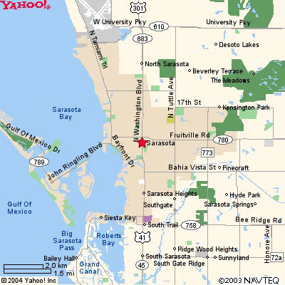 sarasota florida map of florida