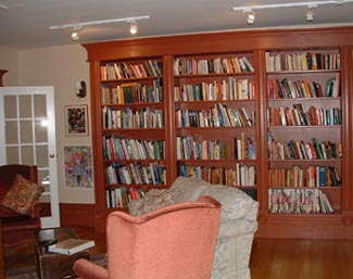 Devonshire Inn library in Prince Edward County Ontario Canada